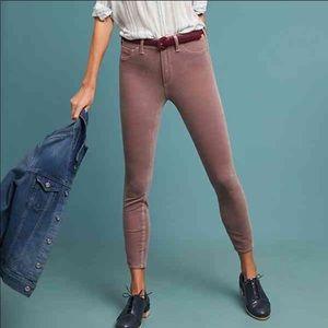 Pilcro mauve corduroy high rise leggings, size 29